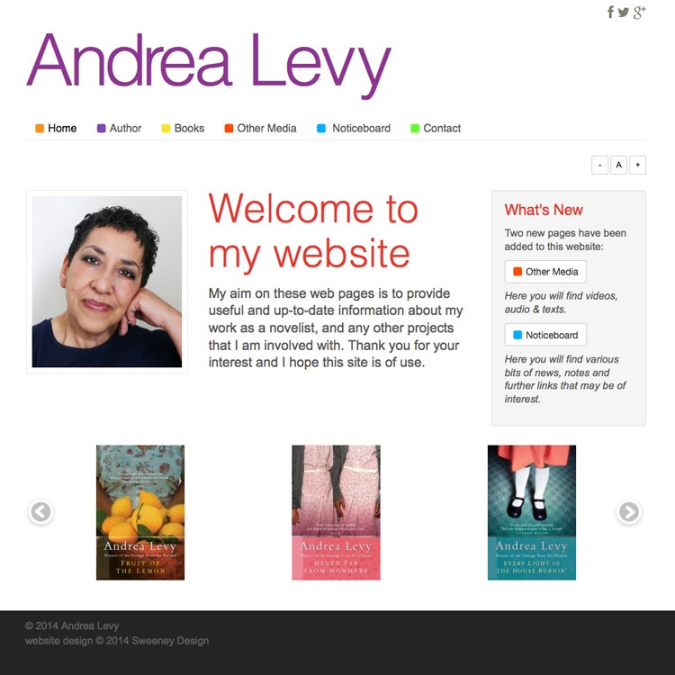 Link to www.andrealevy.co.uk
