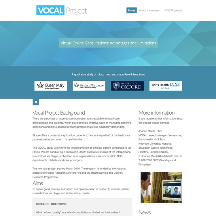 Link to vocalproject.co.uk